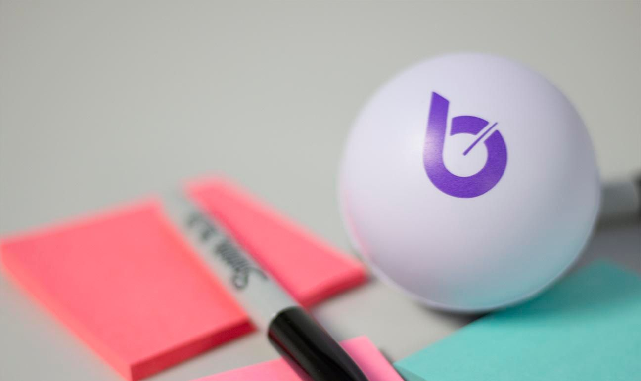 Stress ball with Bellese logo