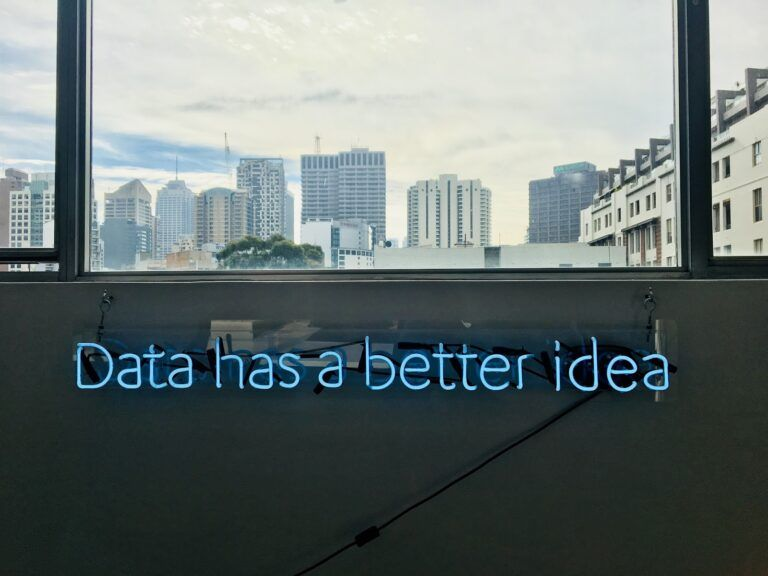 Data has a better idea - neon sign